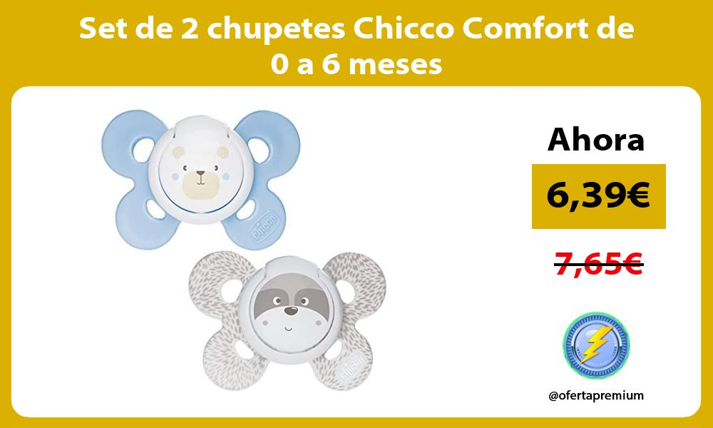 Set de 2 chupetes Chicco Comfort de 0 a 6 meses