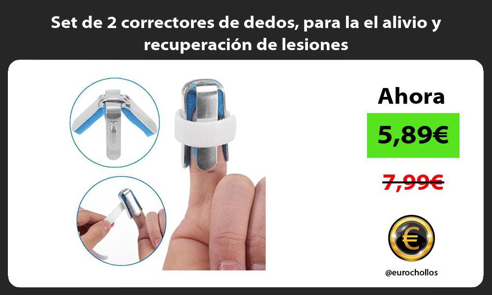 Set de 2 correctores de dedos para la el alivio y recuperación de lesiones