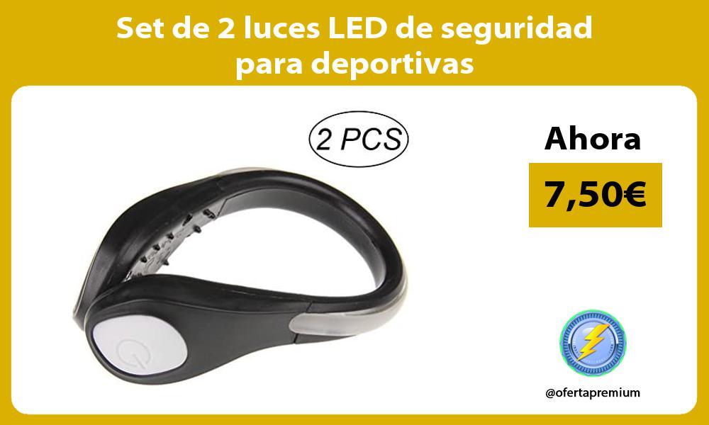 Set de 2 luces LED de seguridad para deportivas