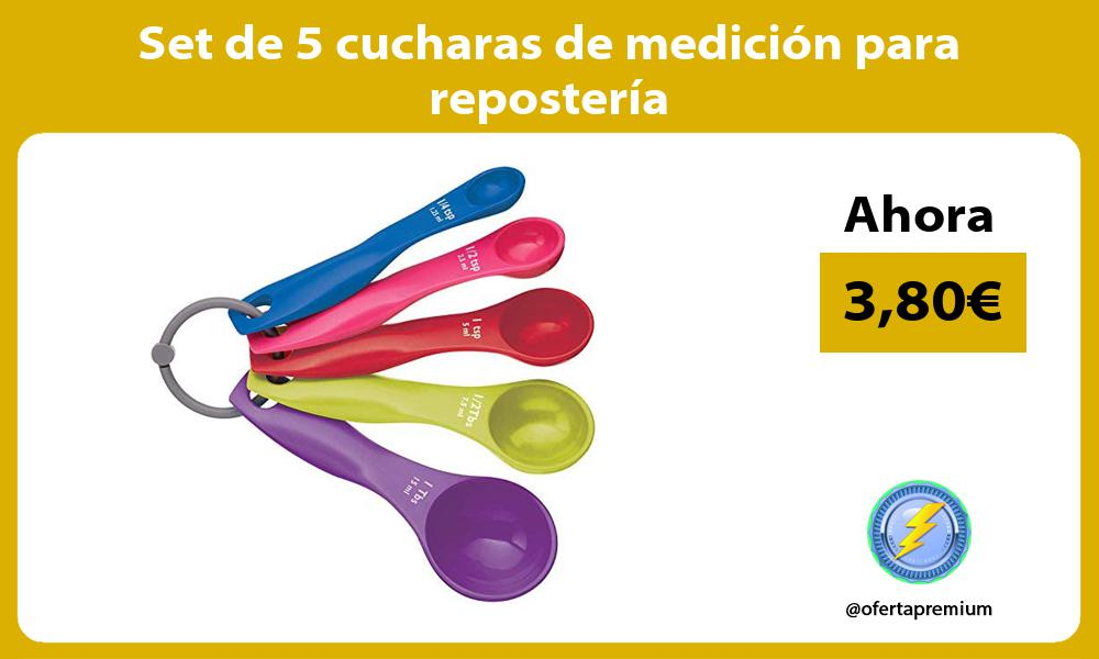 Set de 5 cucharas de medición para repostería