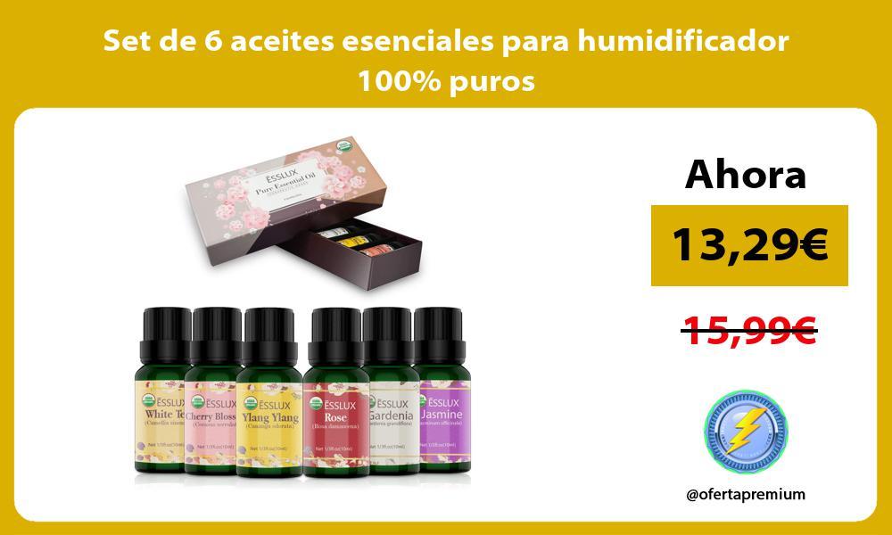 Set de 6 aceites esenciales para humidificador 100 puros