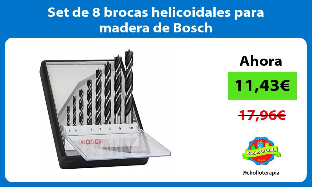 Set de 8 brocas helicoidales para madera de Bosch