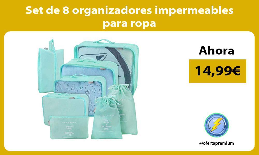 Set de 8 organizadores impermeables para ropa