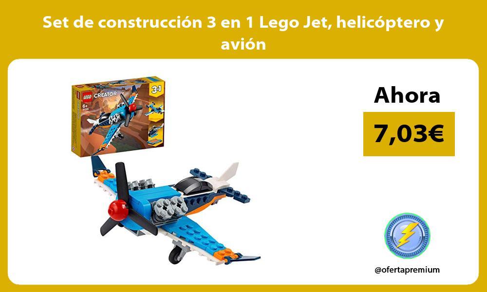 Set de construcción 3 en 1 Lego Jet helicóptero y avión