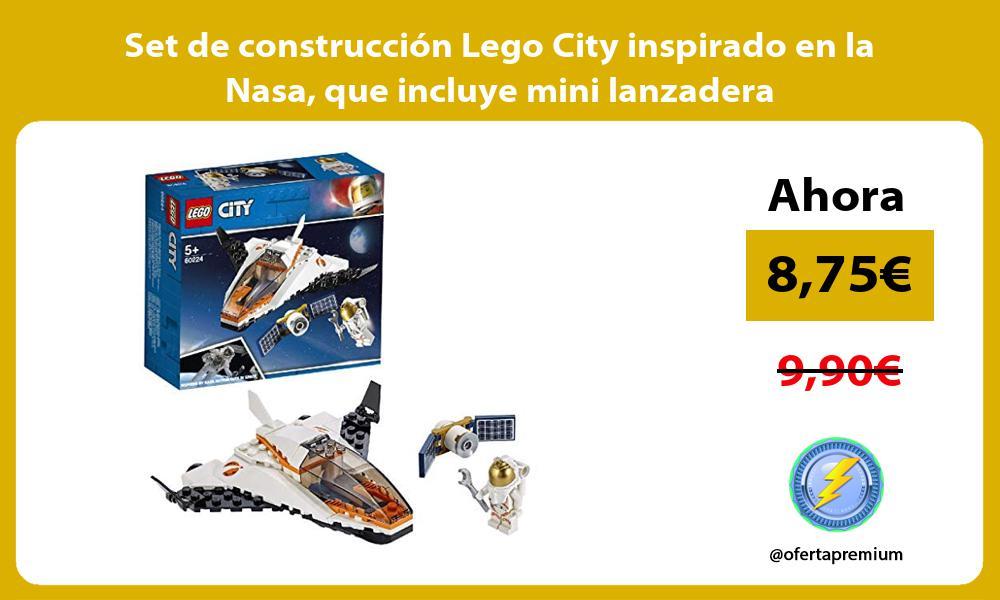 Set de construcción Lego City inspirado en la Nasa que incluye mini lanzadera