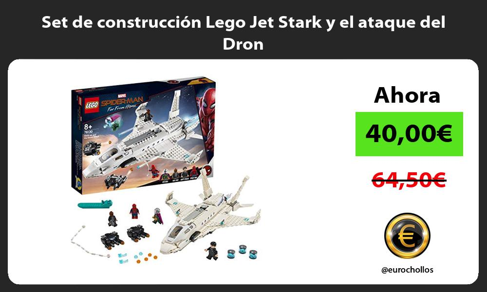 Set de construcción Lego Jet Stark y el ataque del Dron