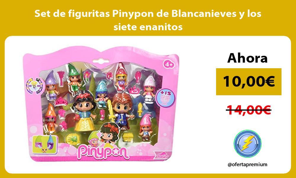 Set de figuritas Pinypon de Blancanieves y los siete enanitos