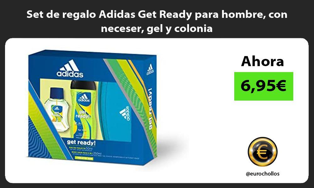 Set de regalo Adidas Get Ready para hombre con neceser gel y colonia