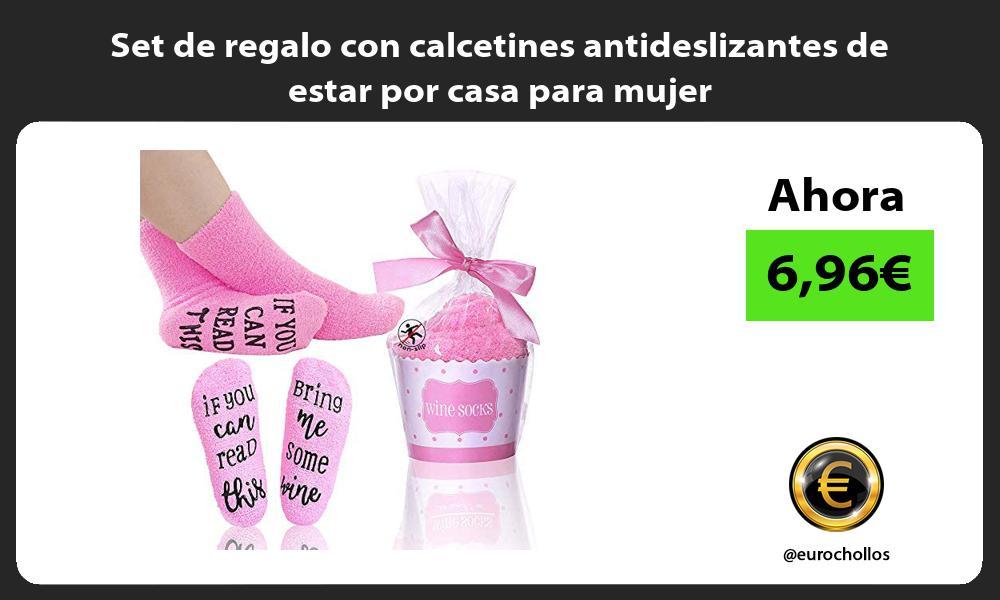Set de regalo con calcetines antideslizantes de estar por casa para mujer