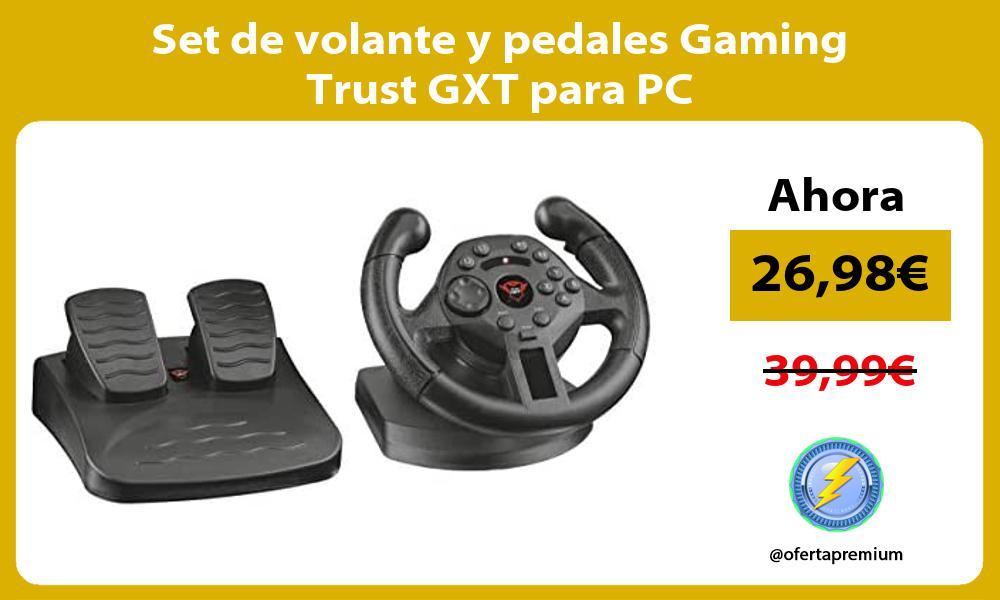 Set de volante y pedales Gaming Trust GXT para PC