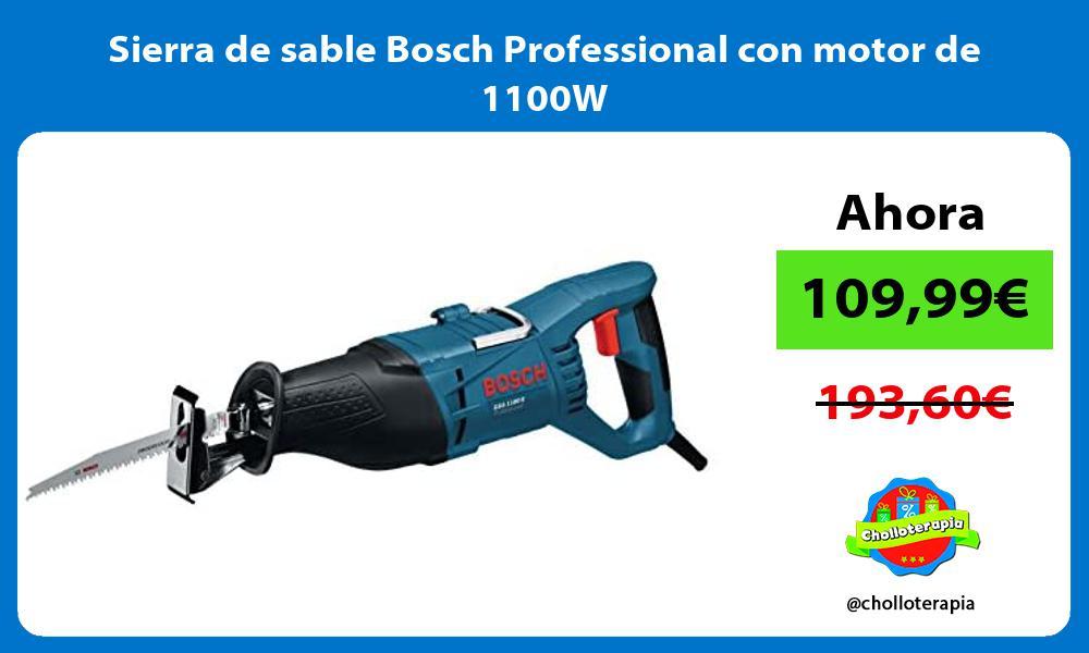 Sierra de sable Bosch Professional con motor de 1100W