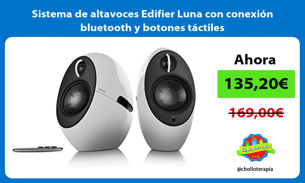 Sistema de altavoces Edifier Luna con conexión bluetooth y botones táctiles