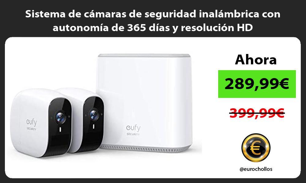 Sistema de cámaras de seguridad inalámbrica con autonomía de 365 días y resolución HD