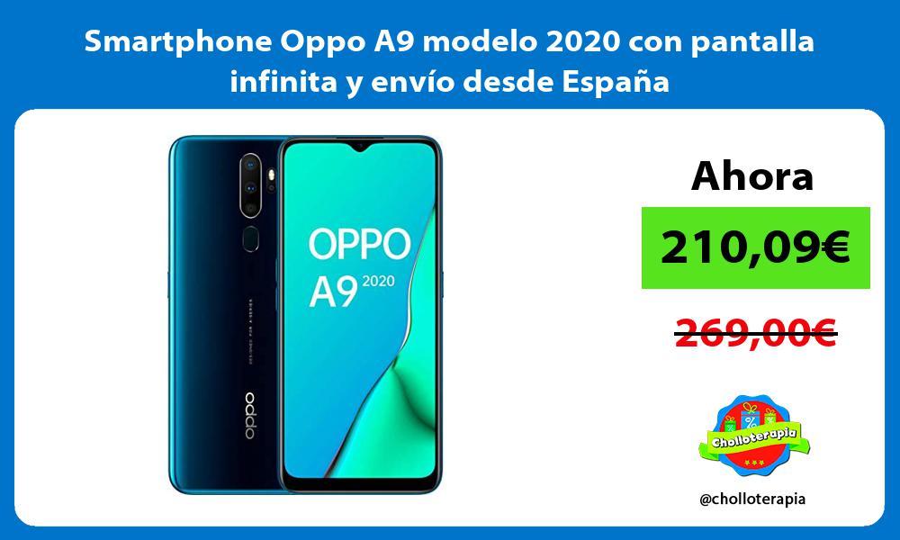 Smartphone Oppo A9 modelo 2020 con pantalla infinita y envío desde España