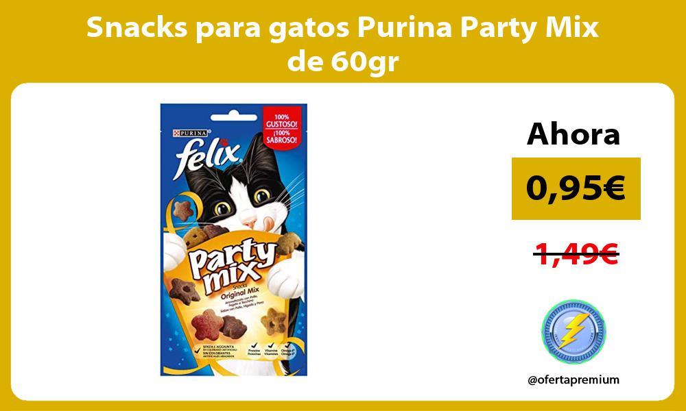 Snacks para gatos Purina Party Mix de 60gr