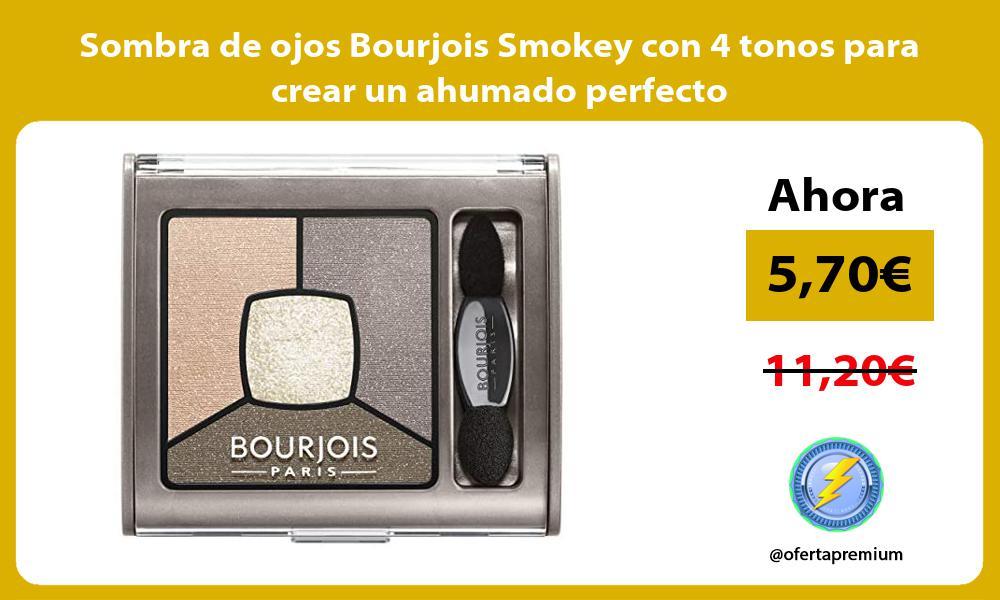 Sombra de ojos Bourjois Smokey con 4 tonos para crear un ahumado perfecto