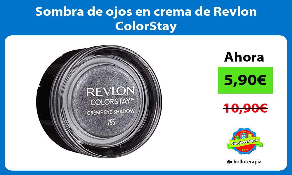 Sombra de ojos en crema de Revlon ColorStay