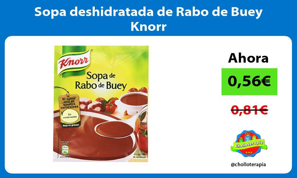 Sopa deshidratada de Rabo de Buey Knorr