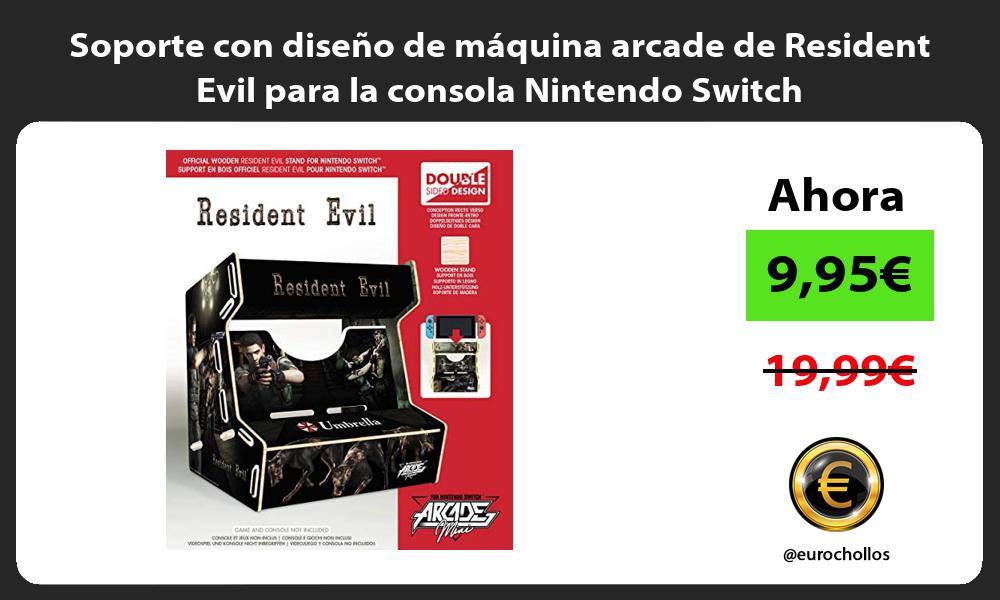 Soporte con diseño de máquina arcade de Resident Evil para la consola Nintendo Switch
