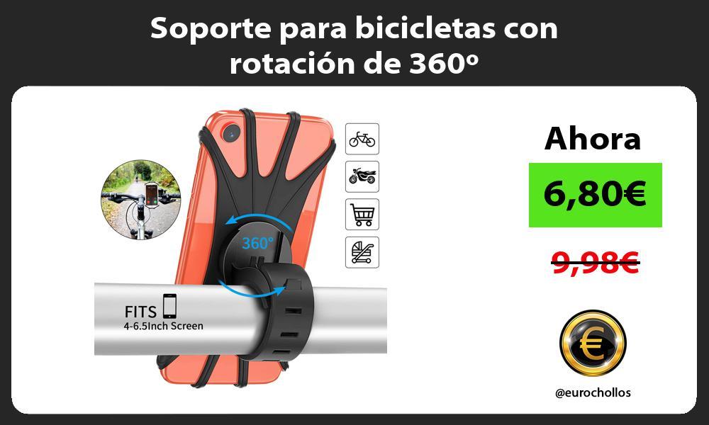 Soporte para bicicletas con rotación de 360º