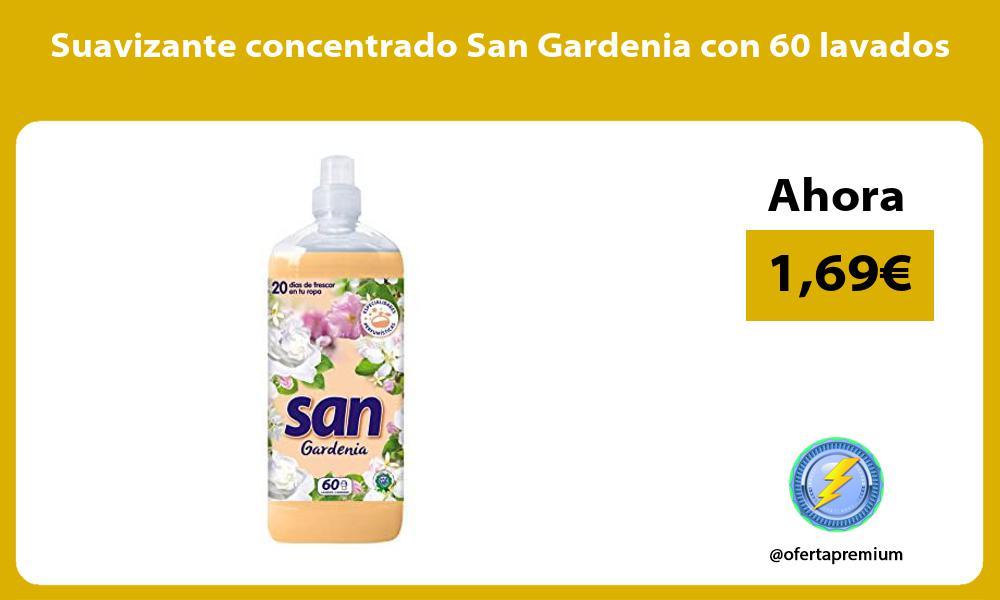 Suavizante concentrado San Gardenia con 60 lavados