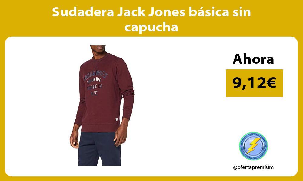 Sudadera Jack Jones básica sin capucha