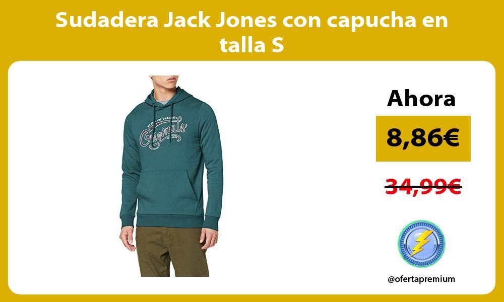 Sudadera Jack Jones con capucha en talla S