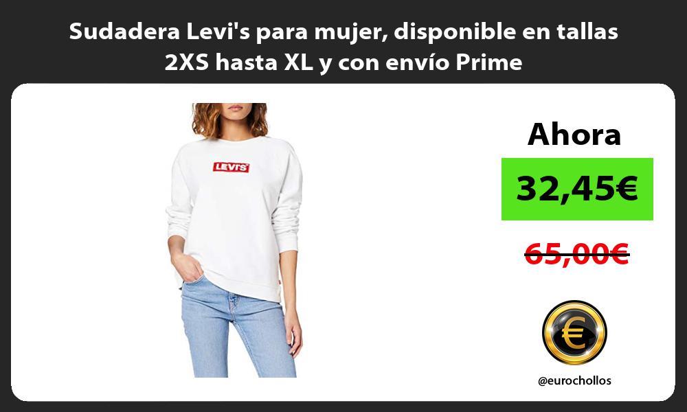Sudadera Levis para mujer disponible en tallas 2XS hasta XL y con envío Prime