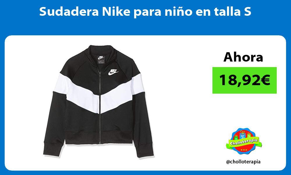 Sudadera Nike para niño en talla S