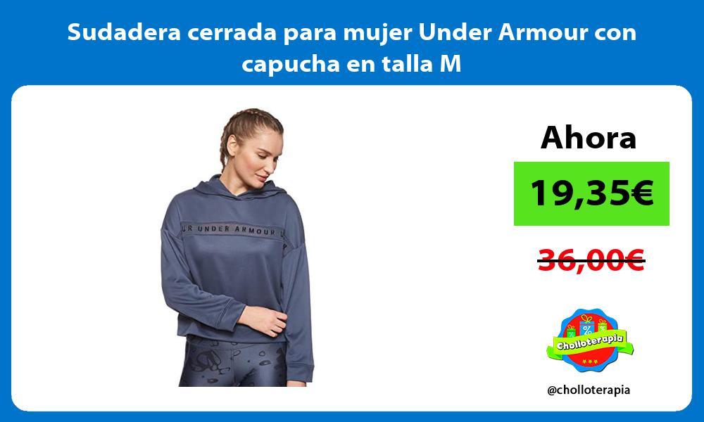 Sudadera cerrada para mujer Under Armour con capucha en talla M