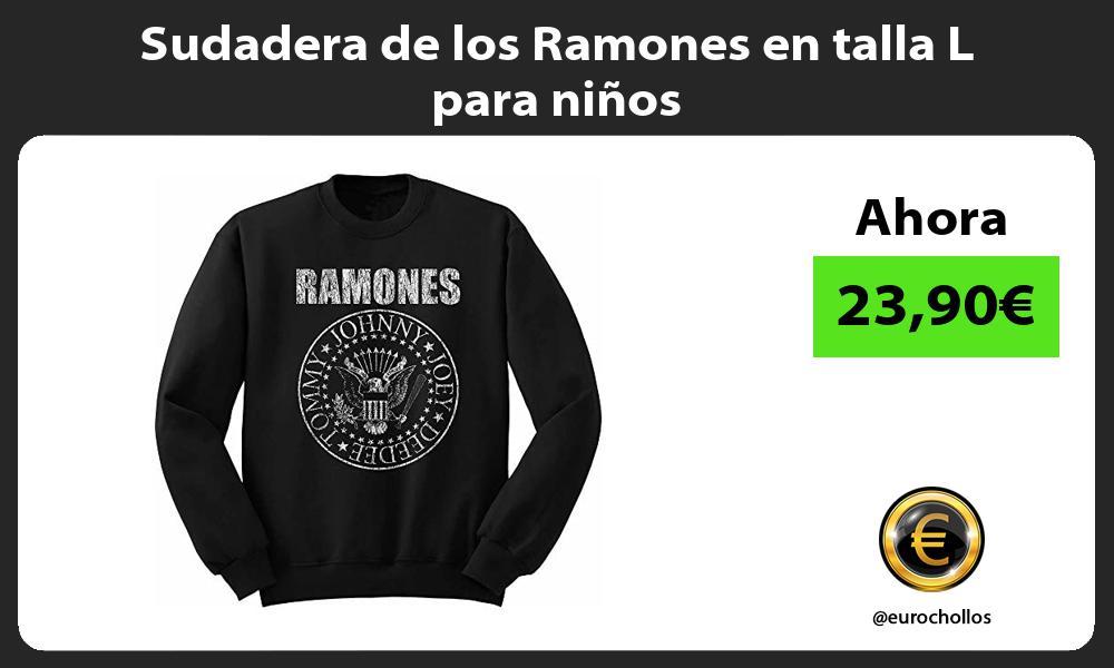 Sudadera de los Ramones en talla L para niños