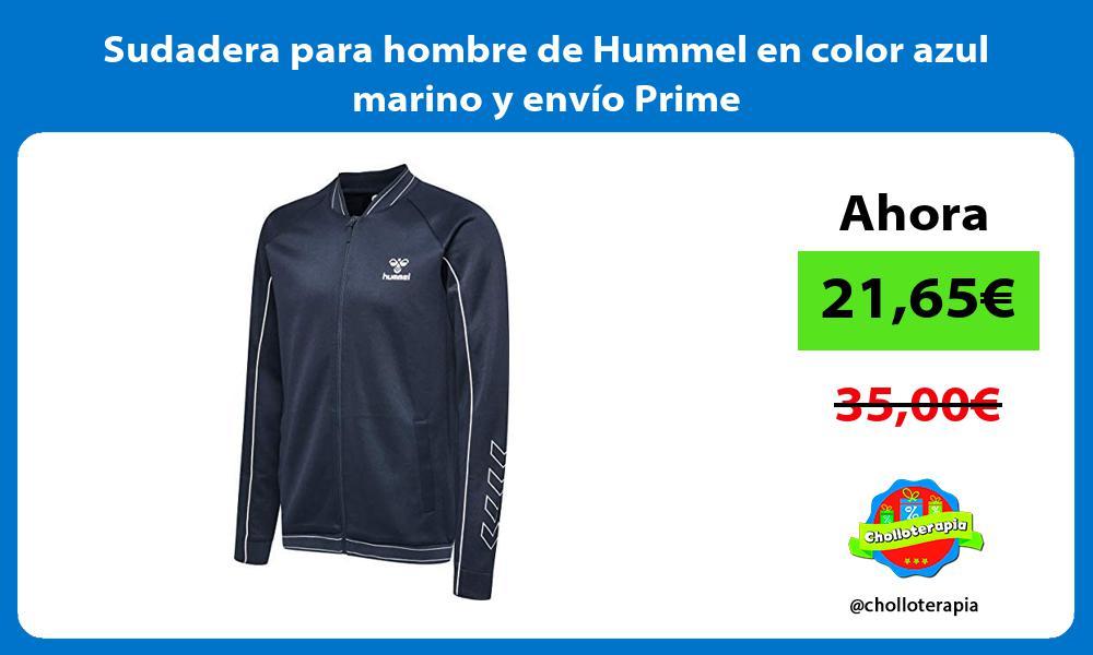 Sudadera para hombre de Hummel en color azul marino y envío Prime