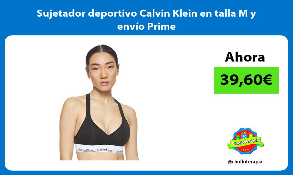 Sujetador deportivo Calvin Klein en talla M y envío Prime