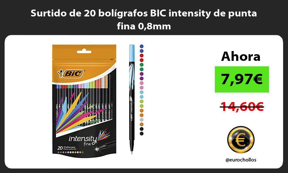 Surtido de 20 bolígrafos BIC intensity de punta fina 08mm
