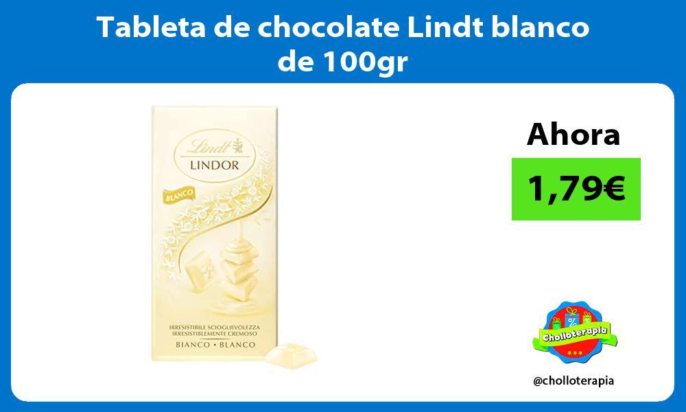 Tableta de chocolate Lindt blanco de 100gr