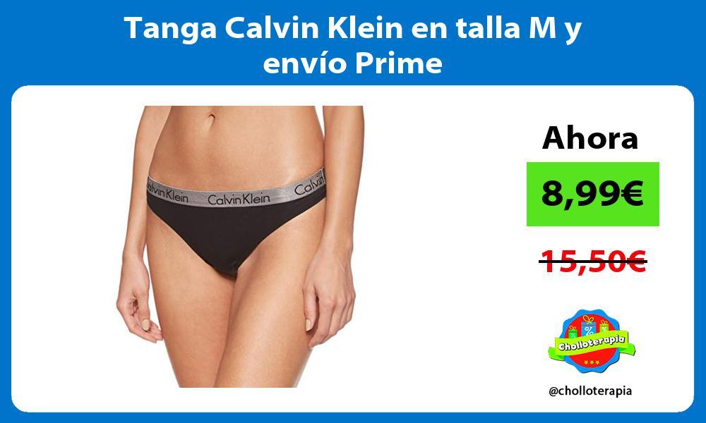 Tanga Calvin Klein en talla M y envío Prime