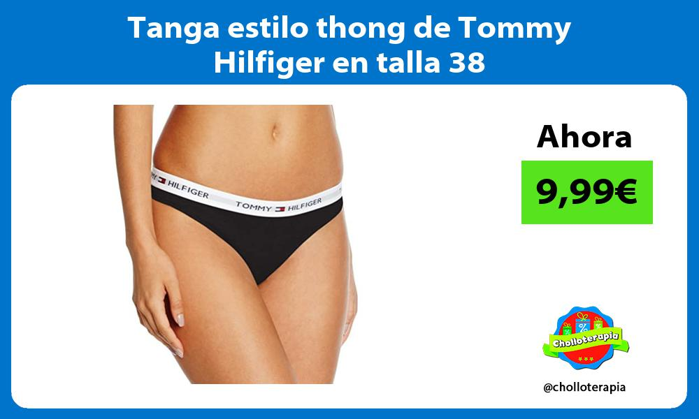 Tanga estilo thong de Tommy Hilfiger en talla 38