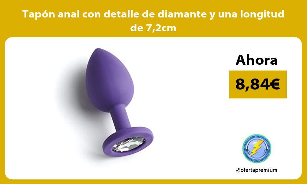 Tapón anal con detalle de diamante y una longitud de 72cm
