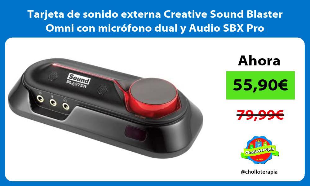 Tarjeta de sonido externa Creative Sound Blaster Omni con micrófono dual y Audio SBX Pro