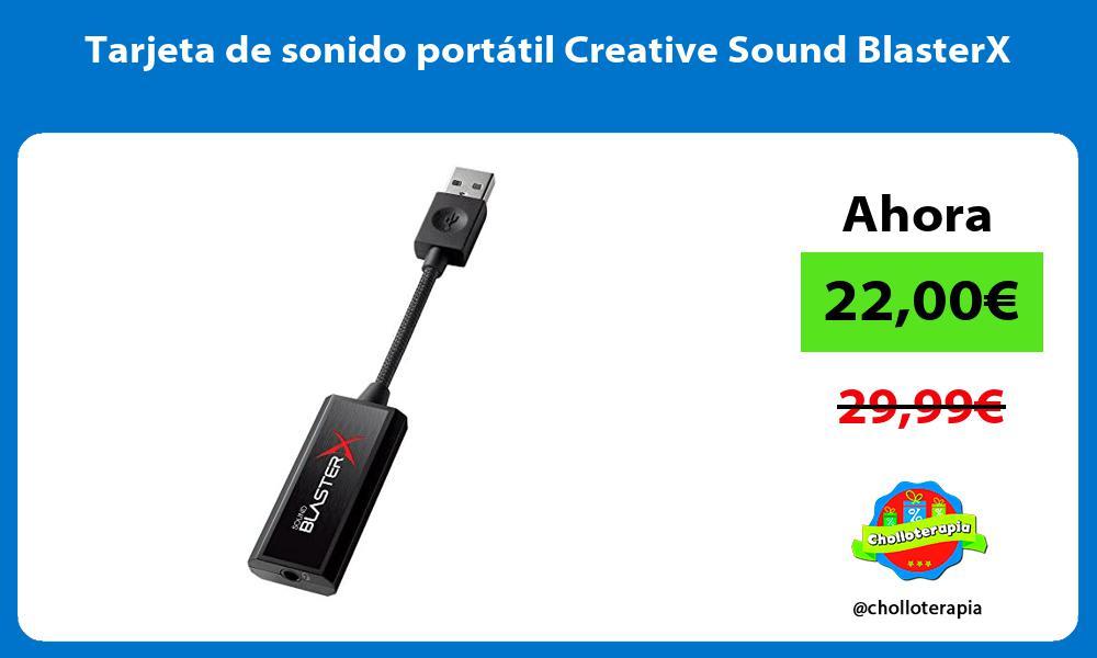 Tarjeta de sonido portátil Creative Sound BlasterX
