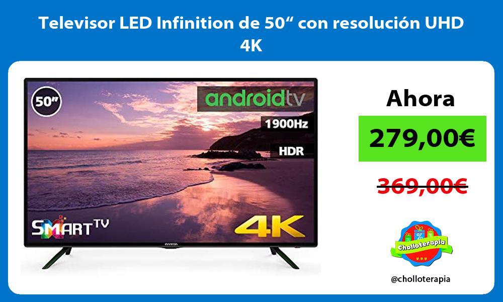 """Televisor LED Infinition de 50"""" con resolución UHD 4K"""