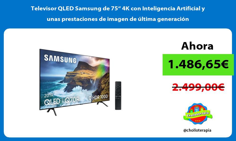 """Televisor QLED Samsung de 75"""" 4K con Inteligencia Artificial y unas prestaciones de imagen de última generación"""