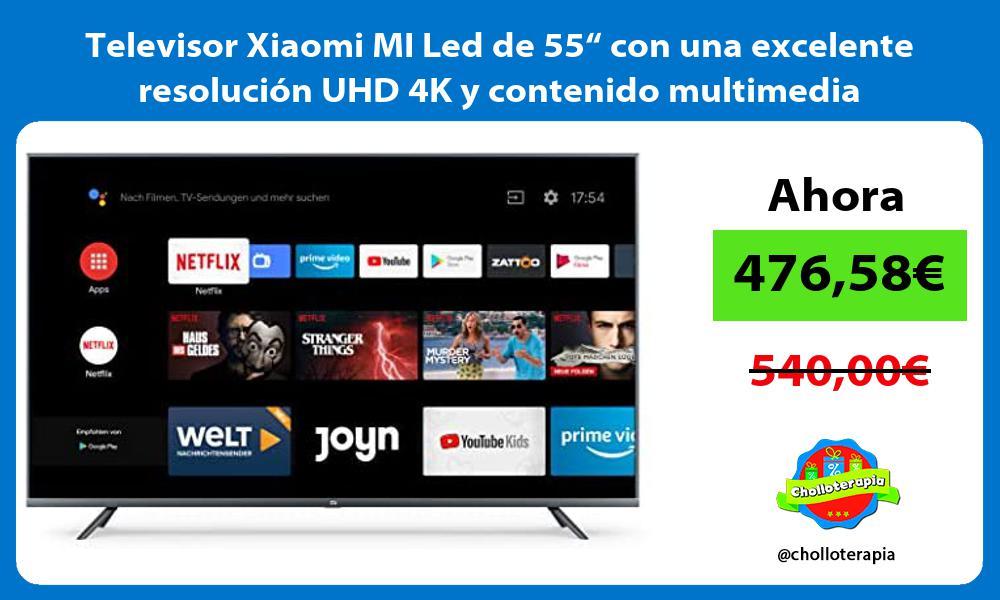 """Televisor Xiaomi MI Led de 55"""" con una excelente resolución UHD 4K y contenido multimedia"""