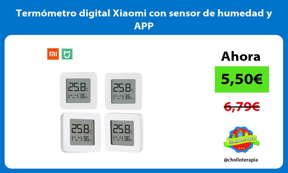 Termómetro digital Xiaomi con sensor de humedad y APP