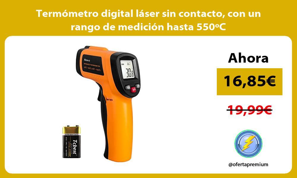 Termómetro digital láser sin contacto con un rango de medición hasta 550ºC