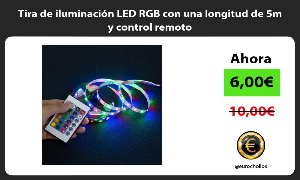 Tira de iluminación LED RGB con una longitud de 5m y control remoto