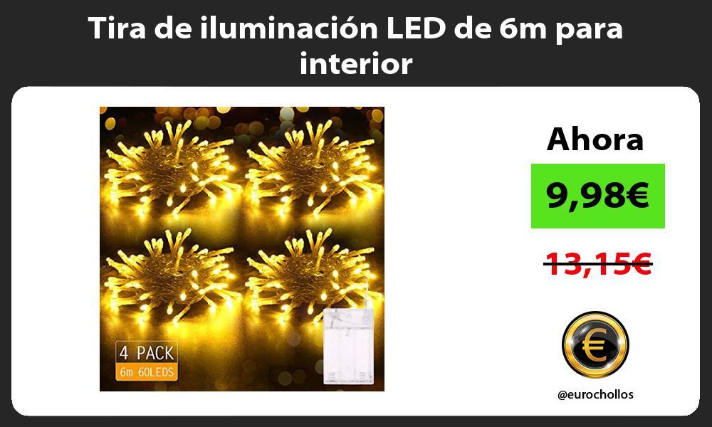 Tira de iluminación LED de 6m para interior