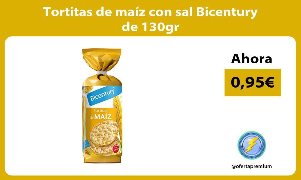 Tortitas de maíz con sal Bicentury de 130gr