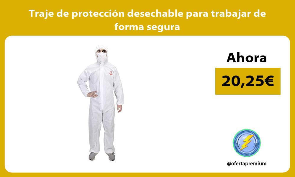 Traje de protección desechable para trabajar de forma segura