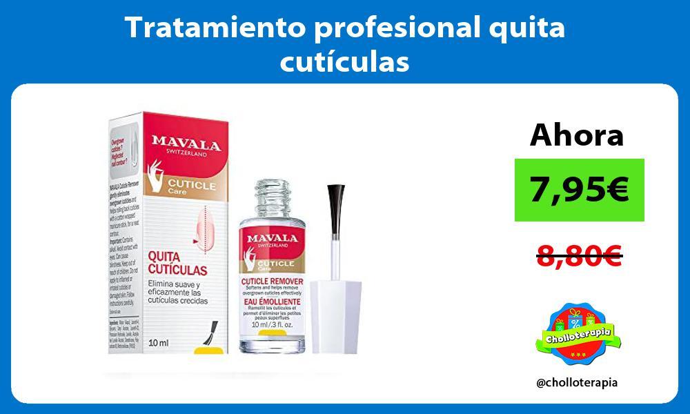 Tratamiento profesional quita cutículas